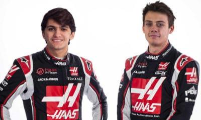 Haas Fittipaldi Pietro i Louis Deletraz