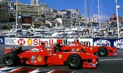 Eddie Irvine i Michael Schumacher Scuderia Ferrari 1998 Monako