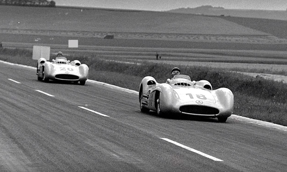 Fangio i Moss Mercedes
