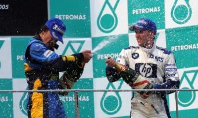 Fernando Alonso i Nick Heidfeld 2005 podium