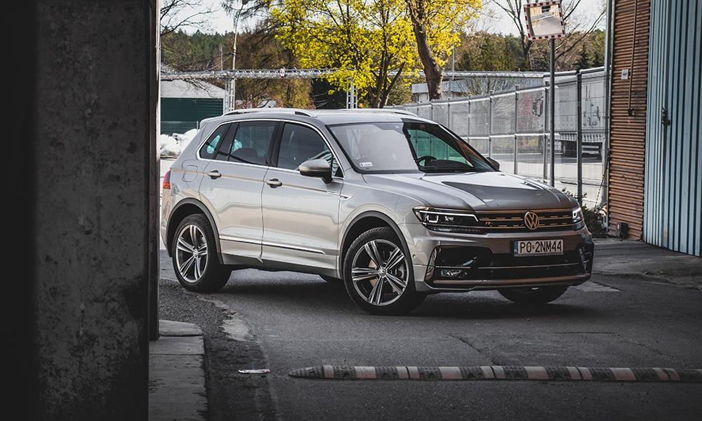 Volkswagen Tiguan R-Line 2020 fabryka dziennikarski test samochodu