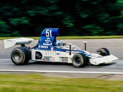 Al Unser w wyścigu Formuły 5000 na Mid-Ohio, 1976 r,