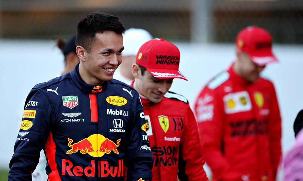 Alexander Albon Red Bull Racing Barcelona 2020
