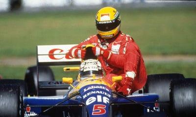 Ayrton Senna i Nigel Mansell GP WIelkiej Brytanii 1991