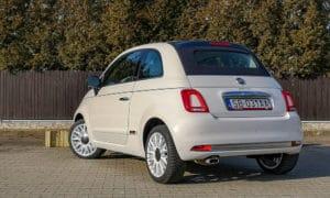 tył Fiat 500C 2020