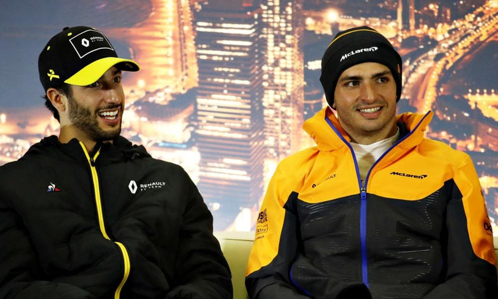 zarobki Ricciardo w McLarenie i zarobki Sainza w Ferrari