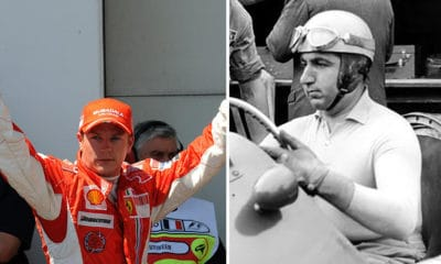 Kimi Raikkonen 2008 i Alberto Ascari 1953