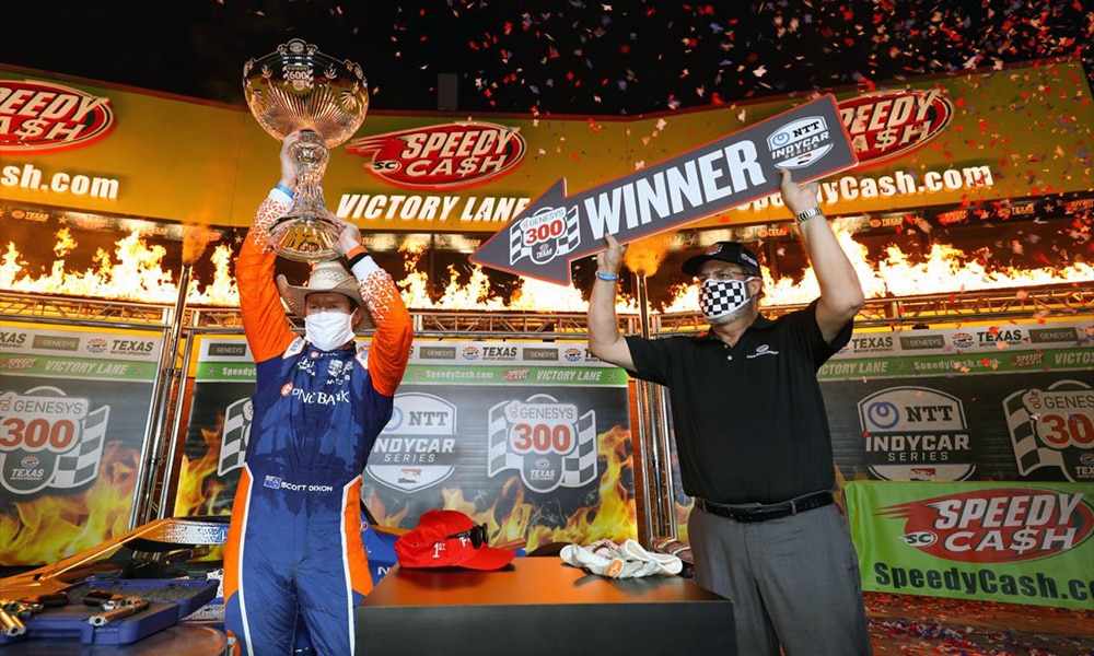 Scott Dixon zwycięzca Genesys 300 Texas 2020 IndyCar