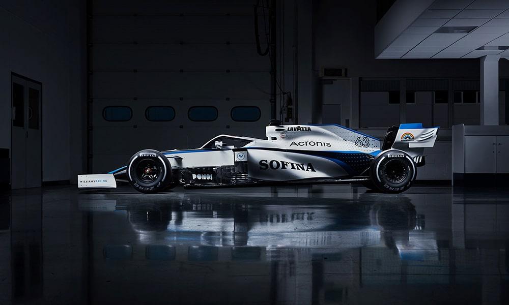Williams Racing 2020 nowe malowanie bok