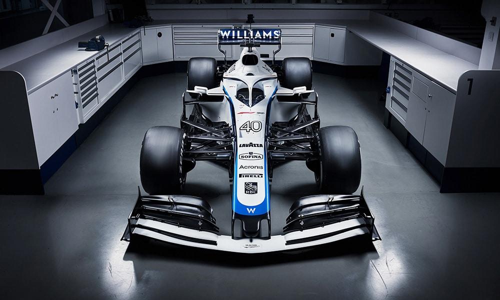 Williams Racing 2020 nowe malowanie z przodu