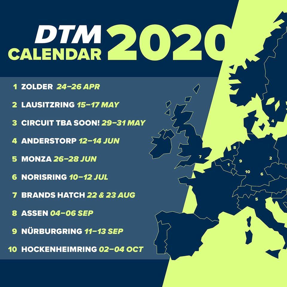 pierwotny kalendarz DTM 2020