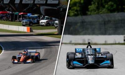 Dixon i Rosenqvist road america indycar 2020 rd 3