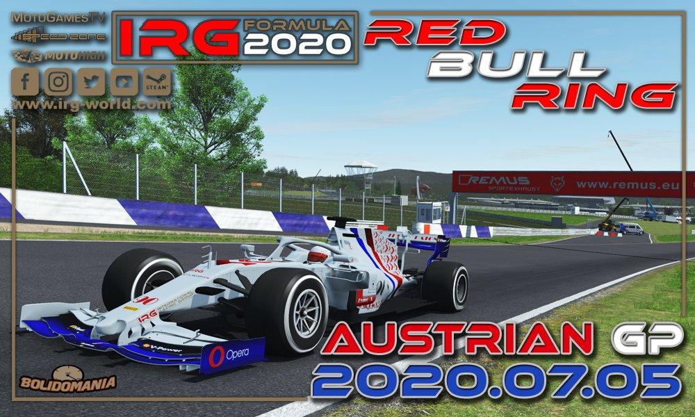 GP Austrii IRG Formula 2020 zapowiedź