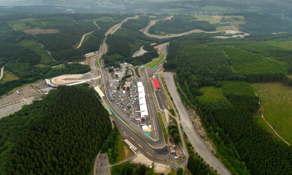 Circuit of spa-Francorchamps Drone view