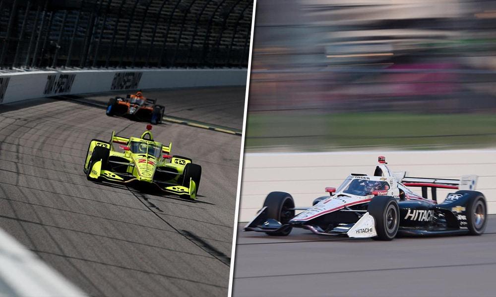 Penske Iowa 2020 IndyCar Pagenaud i Newgarden