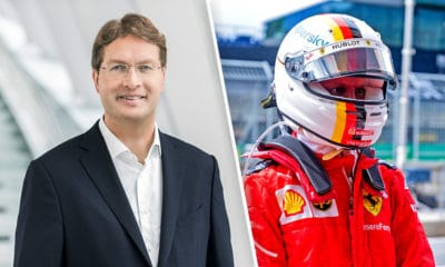szef Mercedesa i Daimler AG Ola Kallenius i Sebastian Vettel