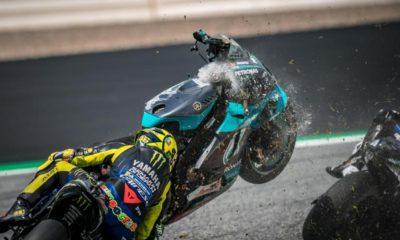 Valetino Rossi cudem uszedł z życiem wypadek Morbidelli vs Zarco