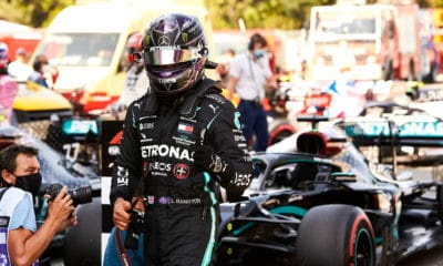 Lewis Hamilton pole position GP Hiszpanii 2020 Mercedes