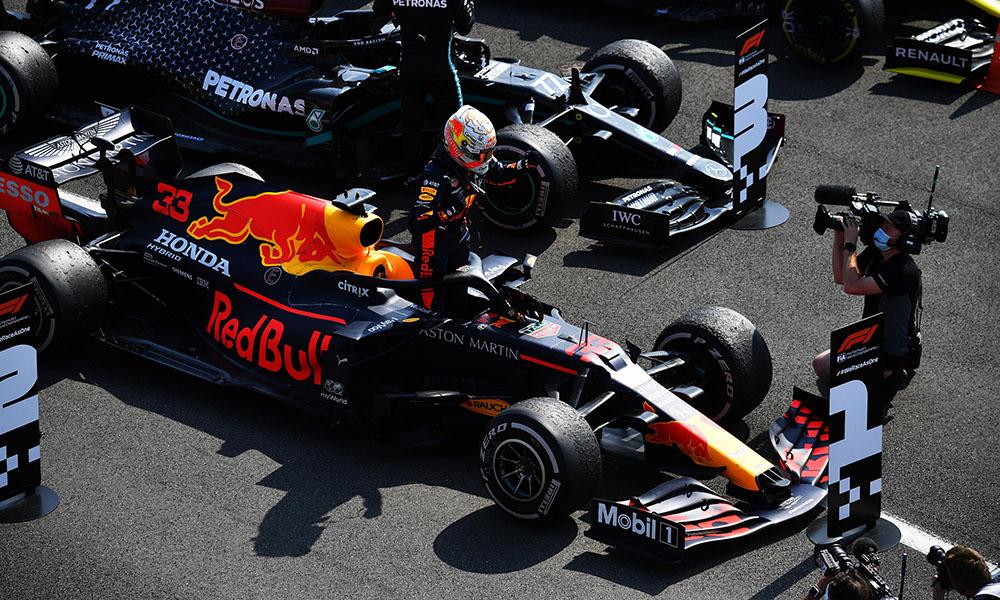 Max Verstappen 2020 GP 70-lecia F1 zwycięstwo