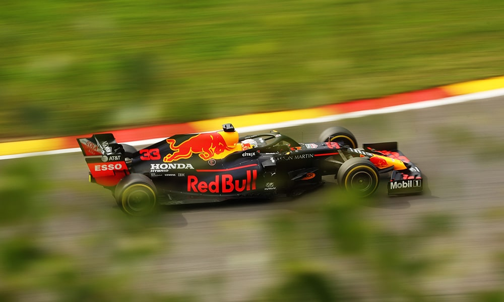 Max Verstappen 2020 GP Belgii treningi Red Bull