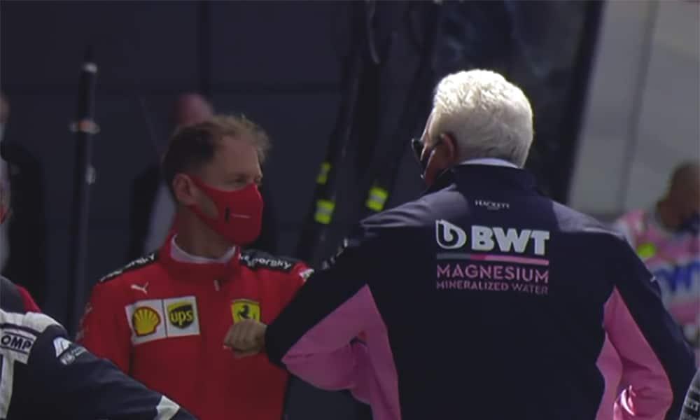 Sebastian Vettel i Lawrencje Stroll GP Wielkiej Brytanii 2020