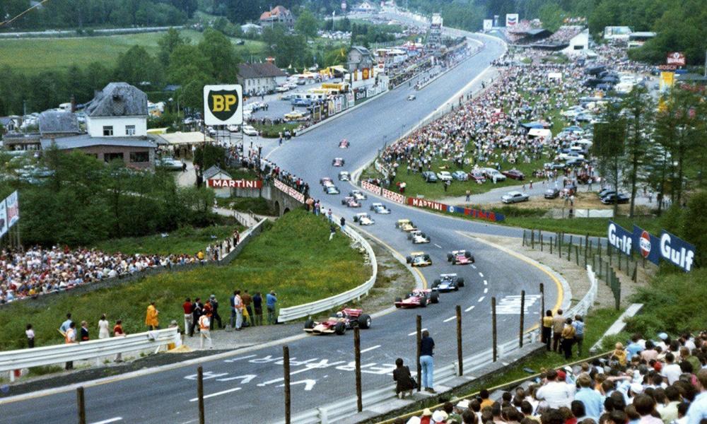 Spa 1970 F1 14 km tor GP Belgii