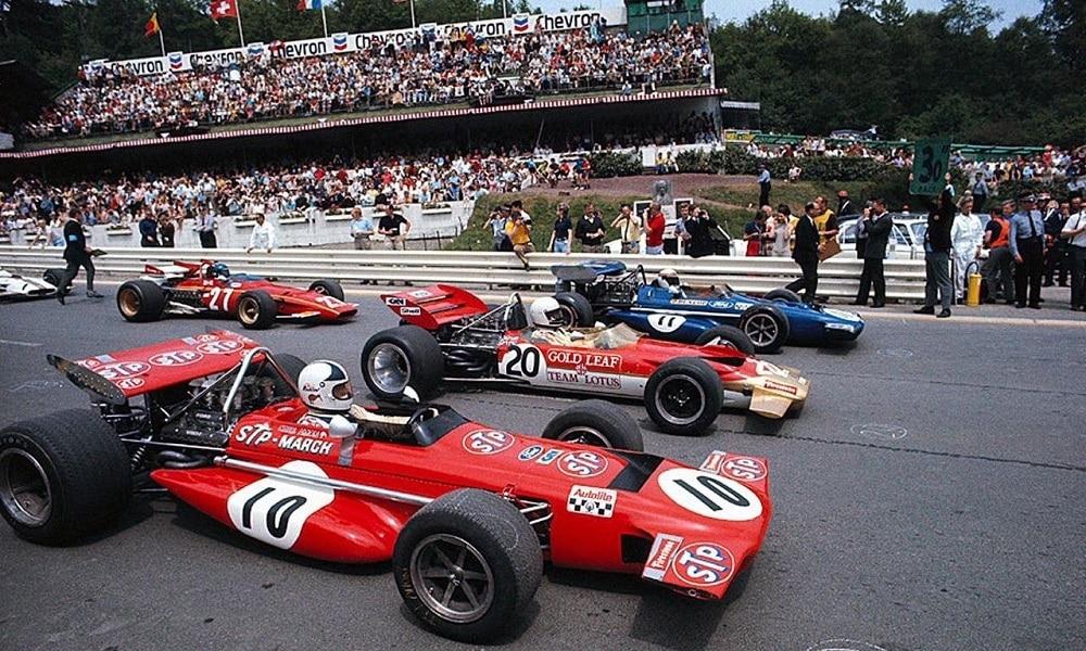 Start do wyścigu Spa 1970
