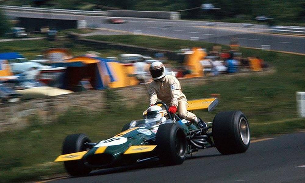 Bell podwozi Stewarta GP Belgii 1970