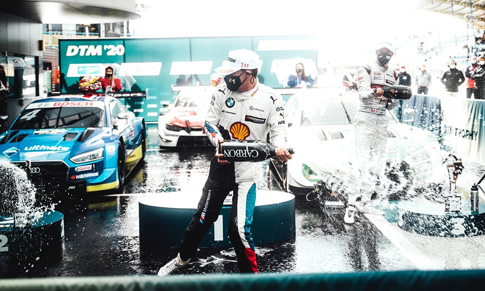 BMW Motorsport Sheldon van der Linde Assen 2020 DTM 2 wyścig