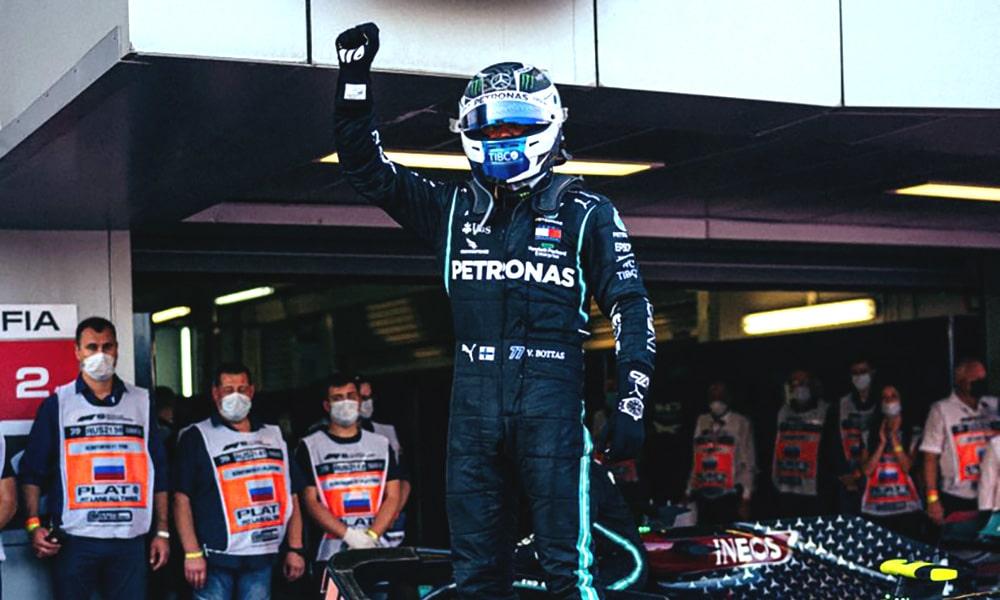 Bottas Mercedes wygrana GP Rosji 2020