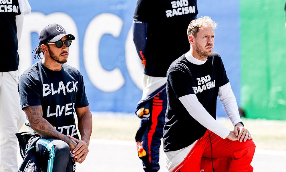 Lewis Hamilton i Sebastian Vettel End Racism 2020 F1
