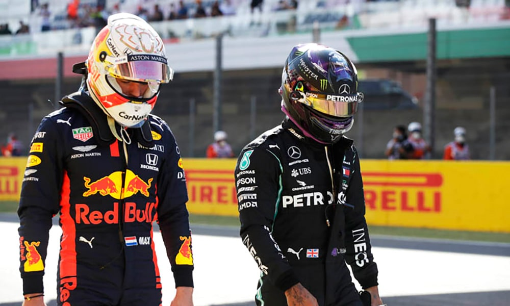 Max Verstappen i Lewis Hamilton 2020 F1 Pitpass Twitter