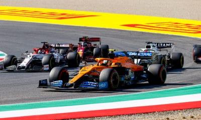 McLaren 2020 GP Toskanii walka na torze