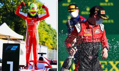 Mick Schumacher i Callum Illot 2020 GP Włoch F2