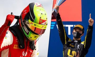 Mick Schumacher i Guanyu Zhou F2 GP Rosji