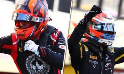 Nikita Mazepin i Christian Lungaard F2 Mugello 2020