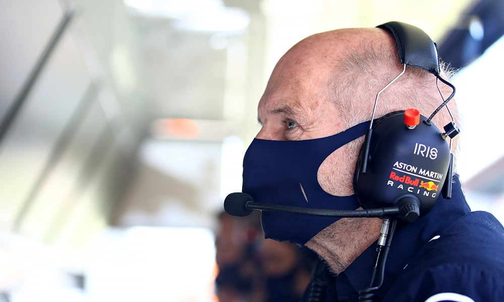 Red Bull 2020 Adrian Newey pit lane