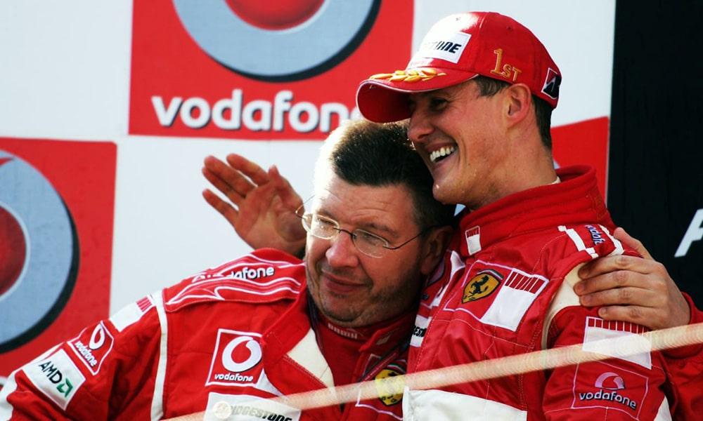 Ross Brawn i Michael Schumacher wspomnienia