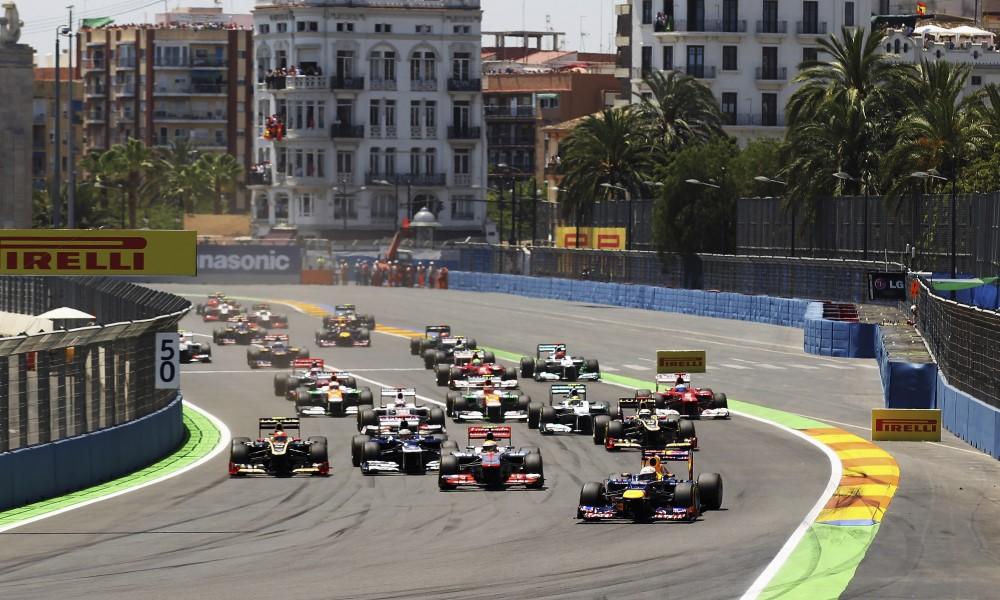 Tor uliczny w Walencji European Grand Prix Race Start