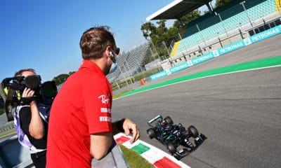 Sebastian Vettel 2020 Monza podglądanie Mercedes