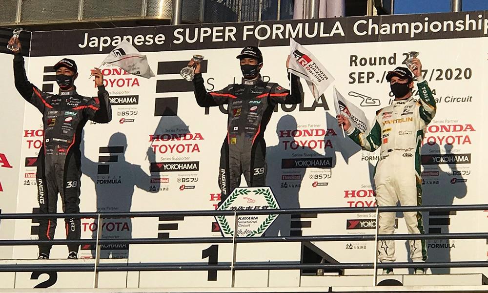 Super Formula 2020 podium Okayama