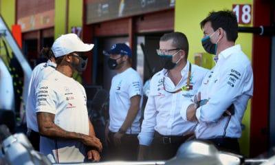 Wolff i Hamilton przyszłość rozmowy GP Toskanii 2020