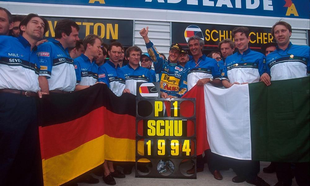michael schumacher 1994 adelajda f1 peirwsze mistrzostwo
