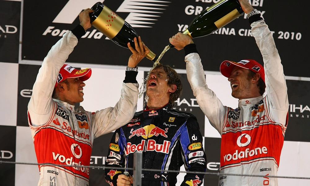 najmłodsi mistrzowie świata f1 sebastian vettel lewis hamilton abu zabi 2010