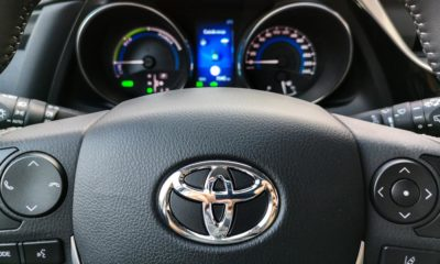 toyota steering wheel controls and car dashboard
