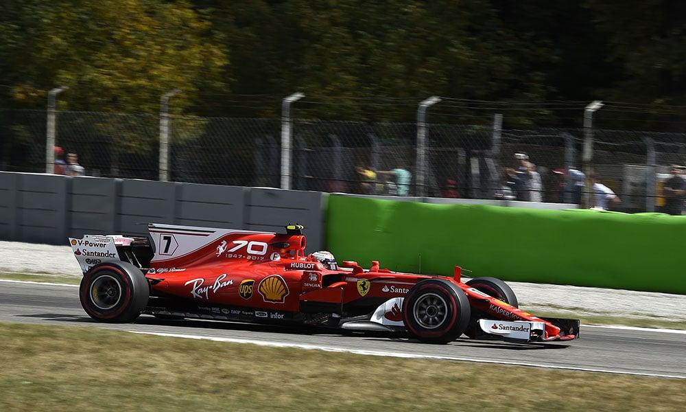 Kimi Raikkonen GP Włoch 2017 malowania scuderii ferrari 70-lecie
