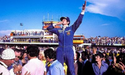 Cieszący się Scheckter po wygranej