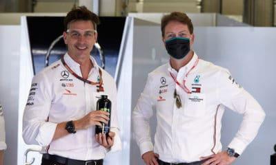 Toto Wolff i Ola Källenius prezes Daimler AG Mercedes F1