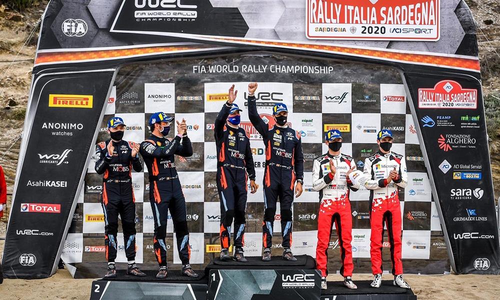 podium Rajd Sardynii 2020 WRC