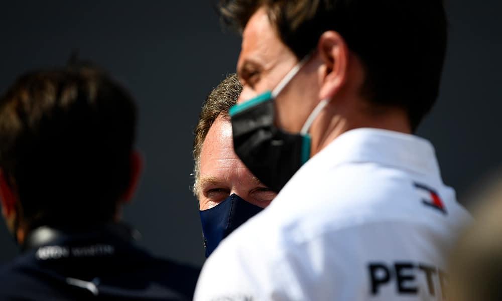 szef Mercedesa Toto Wolff i Christian Horner 2020 GP Hiszpanii rozmowy o silnikach